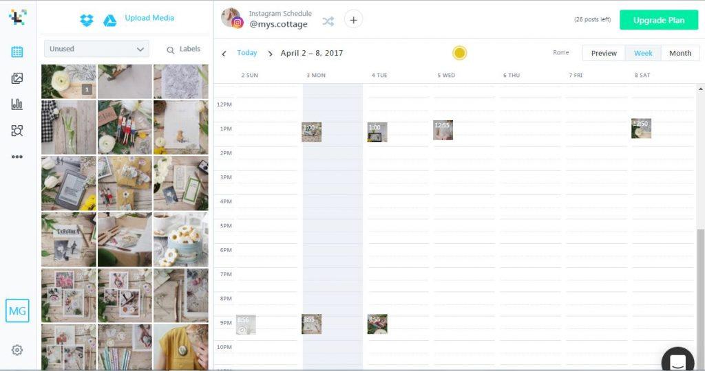 Later_Schermata calendario